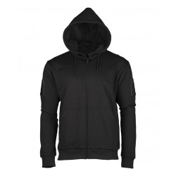 Tactical hooded jacket black