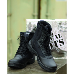 TACTICAL BOOT M.YKK ZIPPER SCHWARZ