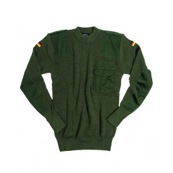 BW PULLOVER 80/WOLLE 20/POLYACRYL OLIV