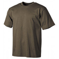 US T-Shirt halbarm hunter-braun